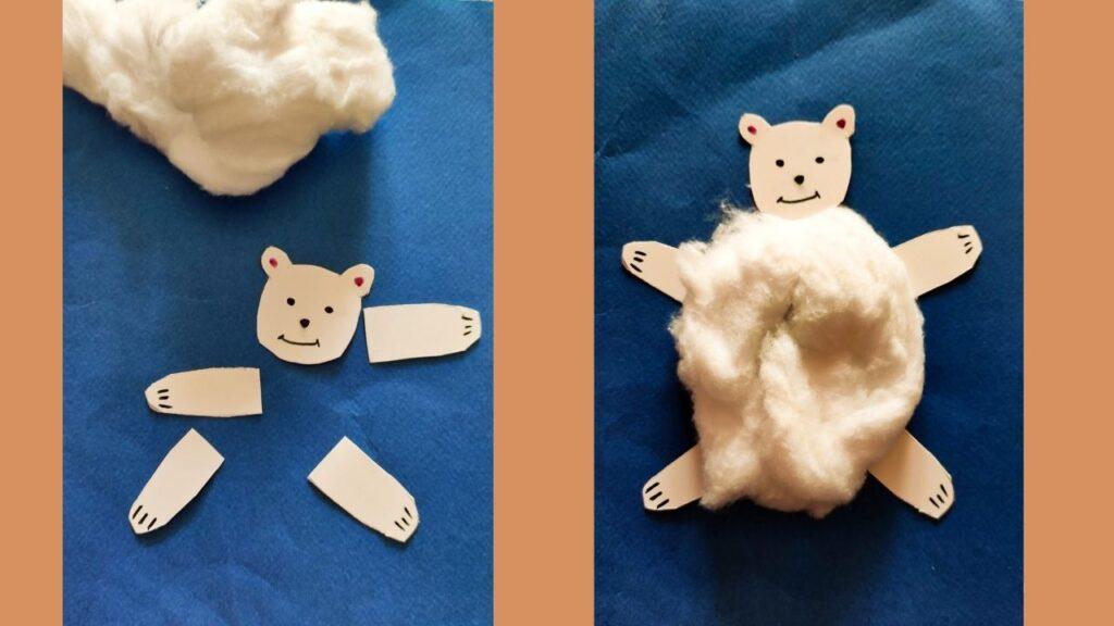 Πολική αρκούδα με βαμβάκι
